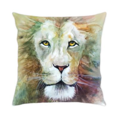Лев, акварель