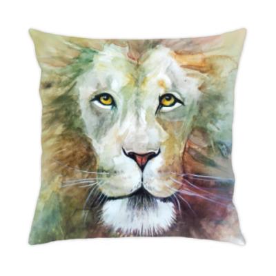 Подушка Лев, акварель