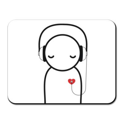 Коврик для мыши No music - no life mousepad