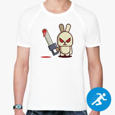 Спортивная футболка Злой кролик с пилой