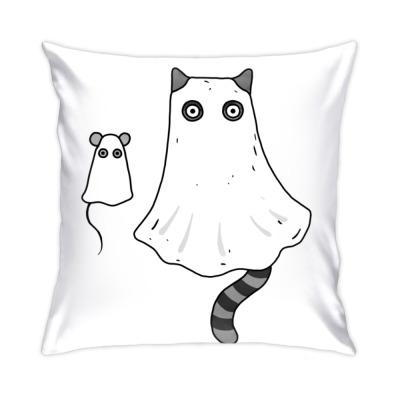 Подушка Кот и мышь приведения