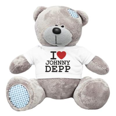 Плюшевый мишка Тедди   I love Johnny Depp