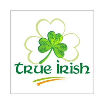 Наклейка (стикер) True Irish