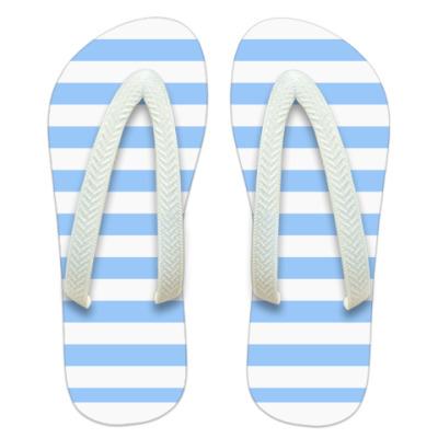 Шлепанцы (сланцы) Blue stripes