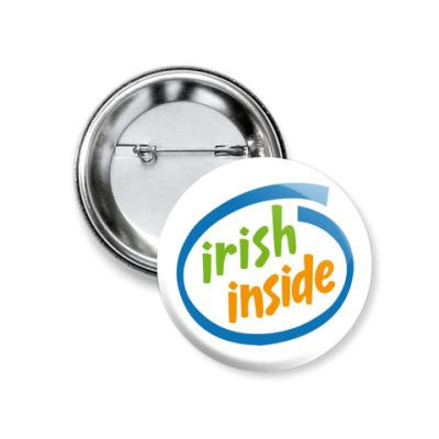 Значок 37мм Irish Inside