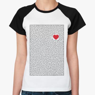 Женская футболка реглан Лабиринт