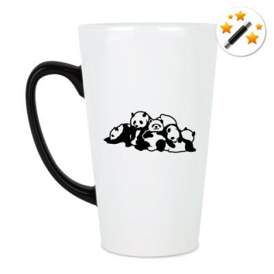 Кружка-хамелеон Панды