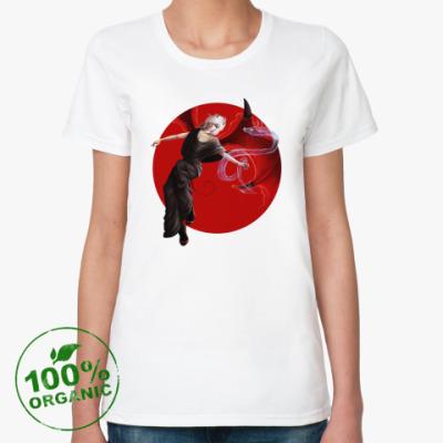 Женская футболка из органик-хлопка демон