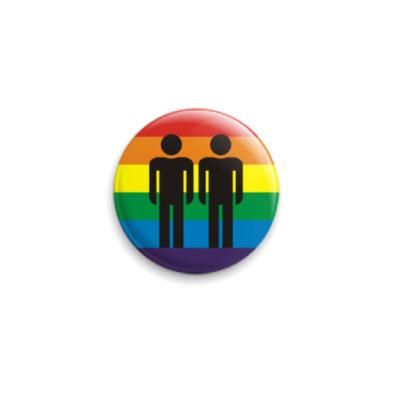 Значок 25мм rainbow