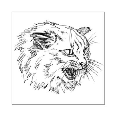 Наклейка (стикер) Злой кот
