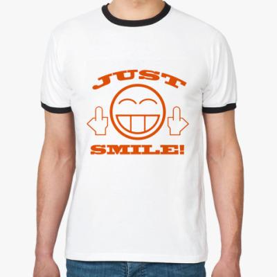 Футболка Ringer-T Just smile