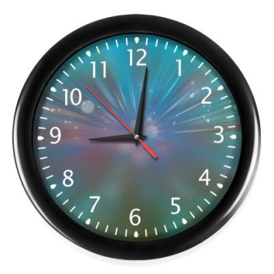 Настенные часы звездный взрыв, абстракция