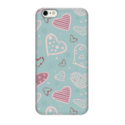 Чехол для iPhone 6/6s Узор из сердец, валентинки