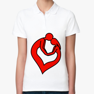 Женская рубашка поло пара сердце