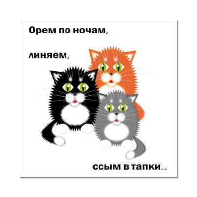 Наклейка (стикер)  Котики