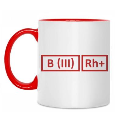 Кружка Группа крови 3 Rh+