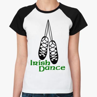 Женская футболка реглан Irish Dance