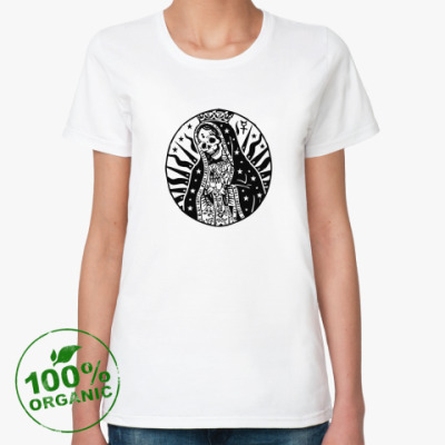 Женская футболка из органик-хлопка santa muerta