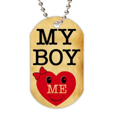 Жетон dog-tag My Boy LOVE ME