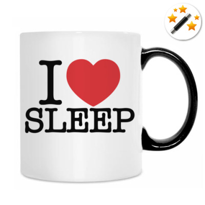 Кружка-хамелеон Я люблю спать
