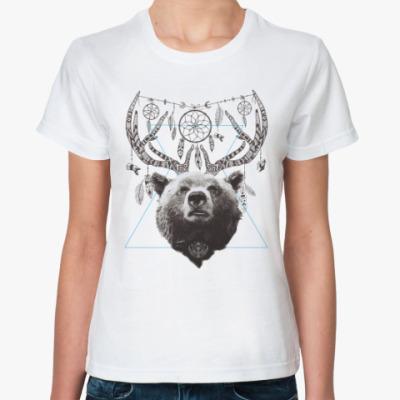 Классическая футболка Медведь с рогами