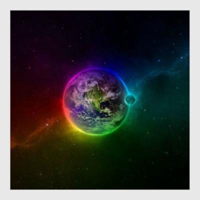 Постер Космическая Земля