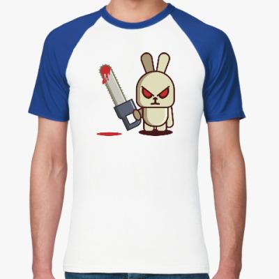 Футболка реглан Злой кролик с пилой