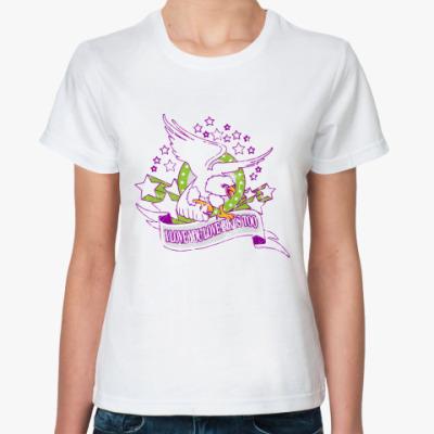 Классическая футболка I love birds