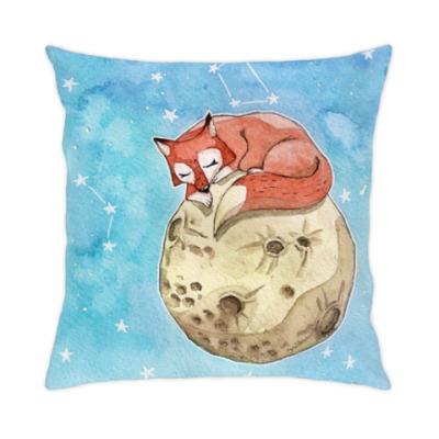 Подушка Лис на луне