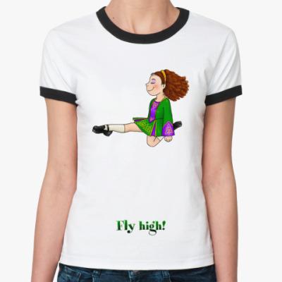 Женская футболка Ringer-T Fly high