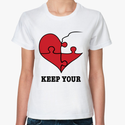 Классическая футболка Парная футболка для влюблённых