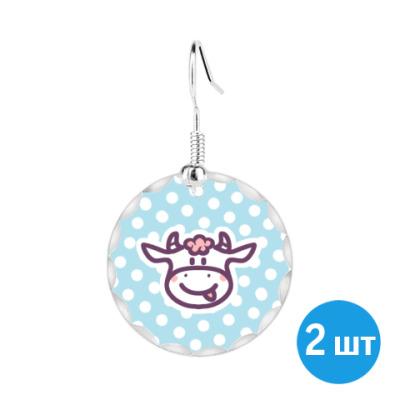 Серьги корова