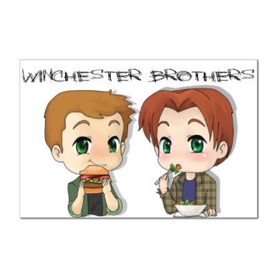 Наклейка (стикер) Братья Винчестеры 5