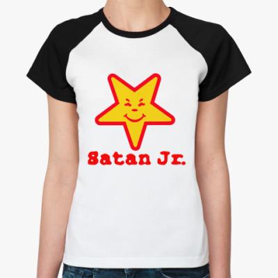 Женская футболка реглан Satan Jr.