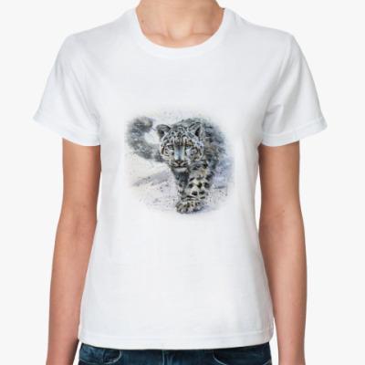 Классическая футболка Снежный барс