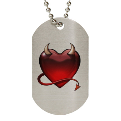 Жетон dog-tag  'Devil Heart'