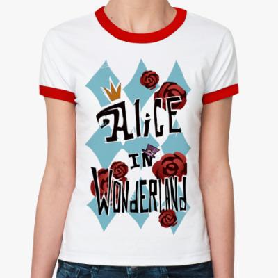 Женская футболка Ringer-T   Alice