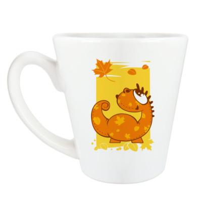 Чашка Латте осенний дракон