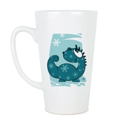 Чашка Латте дракон-зима