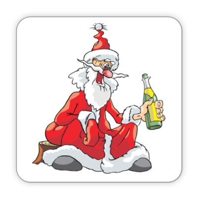 Костер (подставка под кружку) Дед Мороз