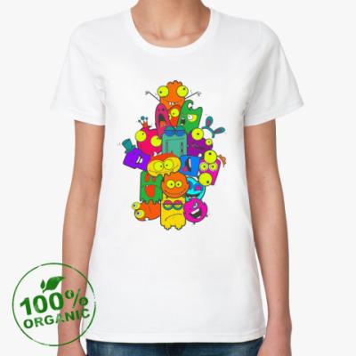 Женская футболка из органик-хлопка Монструсы
