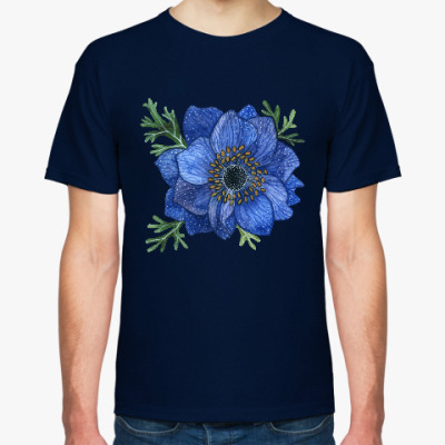 Футболка Синий цветок анемоны