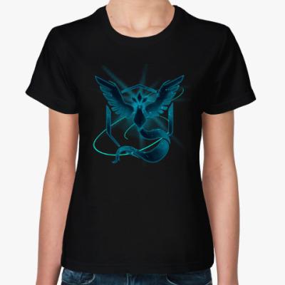 Женская футболка Pokemon GO (Team Mystic)