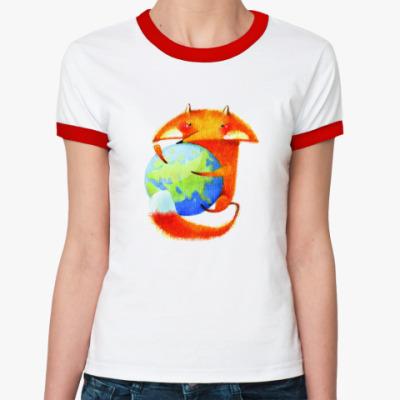 Женская футболка Ringer-T  Mozilla.Россия