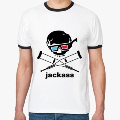 Футболка Ringer-T  Jackass 3d