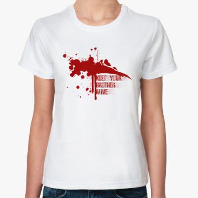 Классическая футболка Keep your brother alive