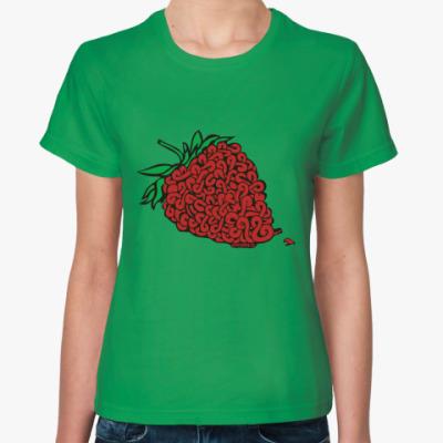 Женская футболка Женская футболка Fruit of the Loom, зеленая