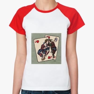 Женская футболка реглан  женская Карты