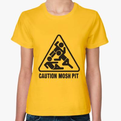 Женская футболка Moshpit  футболка