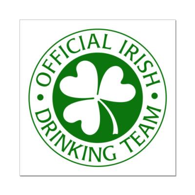 Наклейка (стикер) Drinking team